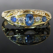 Irish Made Diamond Sapphire Ring, Fine Jewellery, Jewellery Shop, Jewellers, Galway