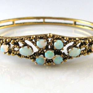 Opal Bracelet Bangle Gold Fine Jewellery