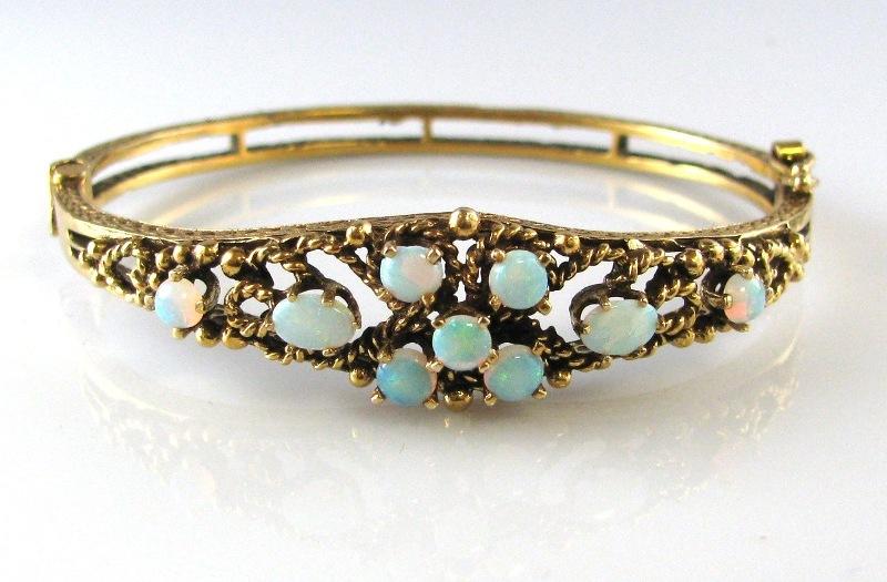 Opal Bracelet Bangle Gold Fine Jewellery