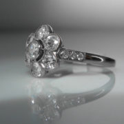 Daisy Cluster Ring, Diamond Ring, Jewellery, Galway, Ireland, The Antiques Room