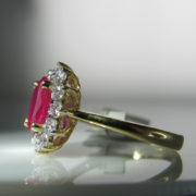 Ruby and Diamond Ring, Jewellery, Galway, Ireland, The Antiques Room