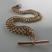 Antique Rose Gold Chain, Curb Link Chain, T Bar Chain