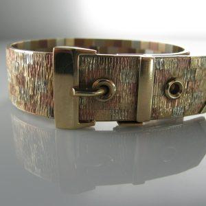 Vintage Multi-Gold Bracelet, Buckle Bracelet, Belt Bracelet, Vintage Gold Bracelet