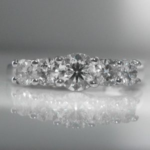Five Stone Diamond Ring in Platinum