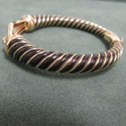 Vintage French Gold Bangle in 18k Gold
