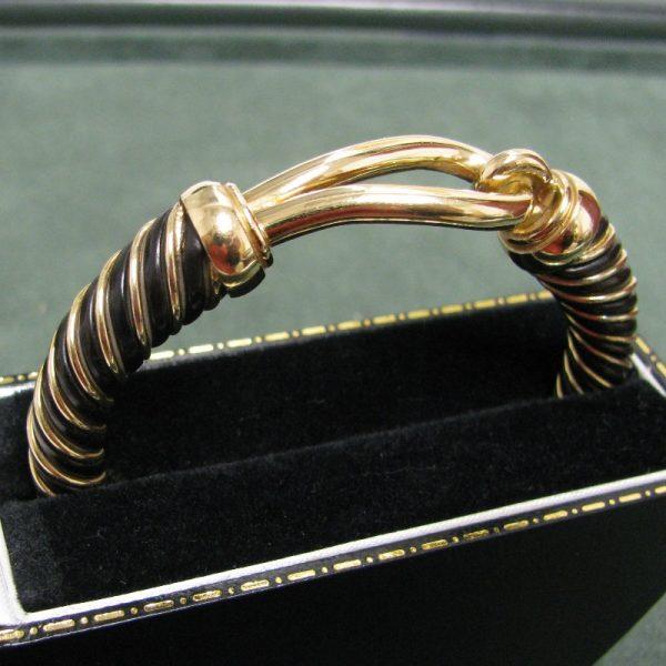 Vintage French Gold Bangle in 18k Gold