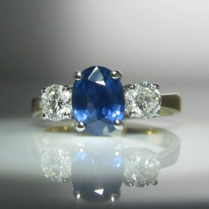 Sapphire and Diamond Ring, Jewellery, Galway, Ireland, The Antiques Room