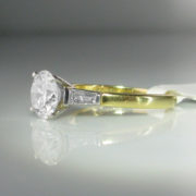 1.63ct Diamond Ring, 18k Gold Platinum Ring, Diamond Ring, Jewellery, Galway, Ireland, The Antiques Room