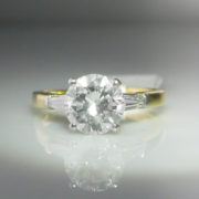 1.63ct Diamond Ring, 18k Gold Platinum Ring, Diamond Ring, Jewellery, Galway, Ireland, The Antiques Room