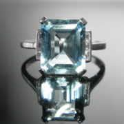 Aquamarine and Diamond Ring, Diamond Ring, Jewellery, Galway, Ireland, The Antiques Room