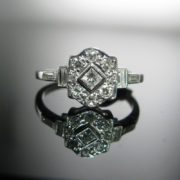 Art Deco Diamond Ring, Diamond Ring, Jewellery, Galway, Ireland, The Antiques Room