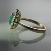 Emerald and Diamond Cluster Ring, Emerald Ring, Fine Jewellery, Jewellery Shop, Jewellers, Galway