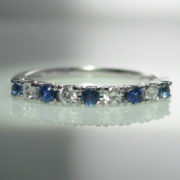 Sapphire and Diamond Band, Sapphire Ring, Fine Jewellery, Jewellery Shop, Jewellers, Galway