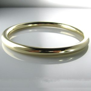Edwardian 15k Gold Bangle Hallmarked 1901