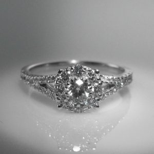 Diamond Cluster Ring ,Diamond Engagement Ring, Diamond Ring, Jewellers, Jewellery Shop, Galway