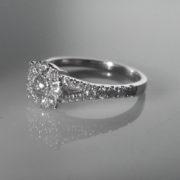 Diamond Cluster Ring ,Diamond Engagement Ring, Diamond Ring, Jewellers, Jewellery Shop, Galway