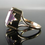 Gold Amethyst Ring, Jewellery, Galway, Ireland, The Antiques Room