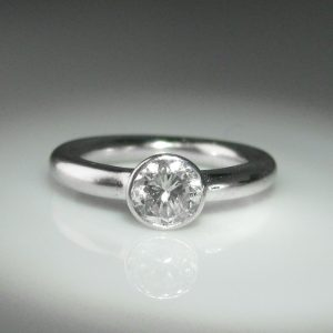 Solitaire Diamond Ring, Platinum Ring, Diamond Engagement Ring