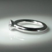 Solitaire Diamond Ring, Platinum Ring, Diamond Engagement Ring