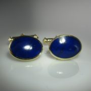 Lapis Lazuli Cufflinks, Gold Cufflinks, For Him, Cufflinks, Fine Jewellery, Galway, Ireland, The Antiques Room