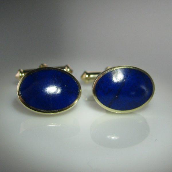 Lapis Lazuli Cufflinks, Gold Cufflinks, For Him, Cufflinks, Fine Jewellery, Galway, Ireland, The Antiques Room