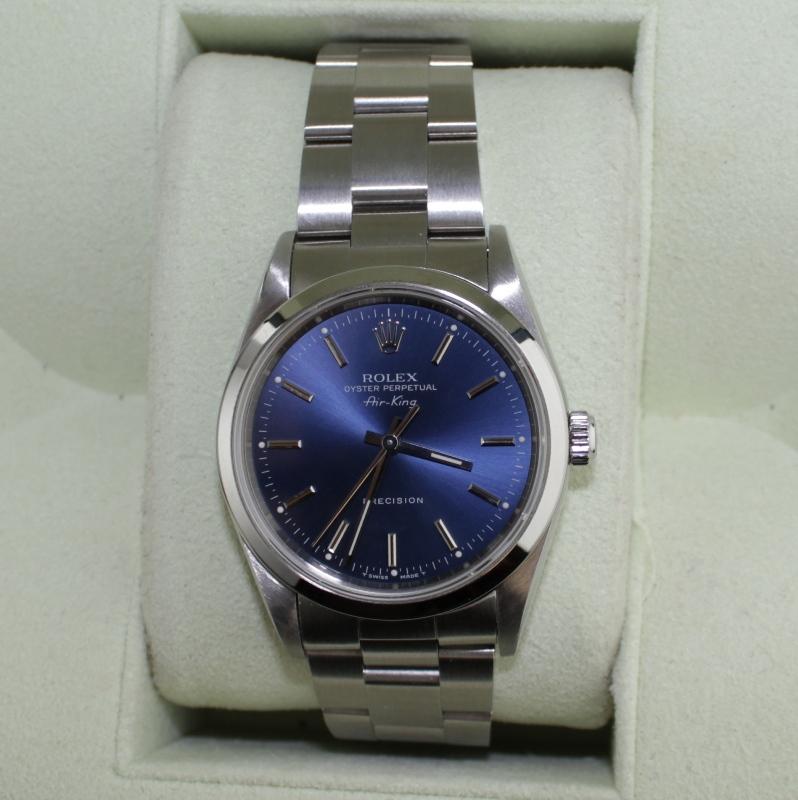 Rolex Oyster Perpetual Air-king Precision - Blue Azzurro Dial