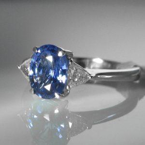 Ceylon Sapphire and Diamond Ring - Certified