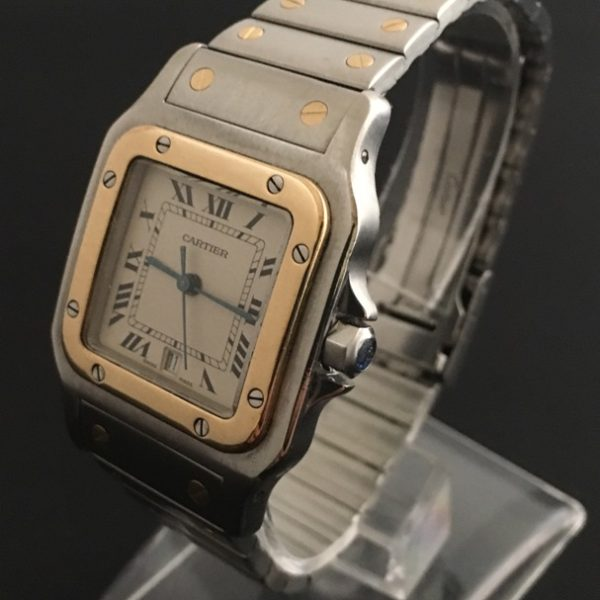 Sold Cartier Santos Galbee Gold And Steel The