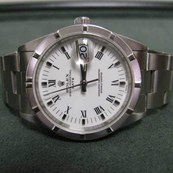 Rolex Oyster Perpetual Date 15200, White Dial