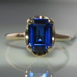 Irish Made - Antique Blue Topaz Ring