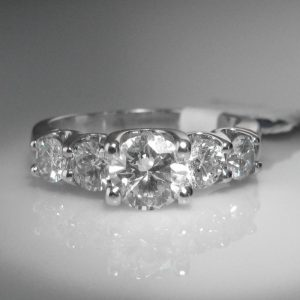 Five Stone Diamond Ring, Diamond Engagement Ring, Engagement Ring, The Antiques Room, Jewellery, Galway