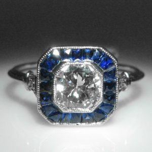 Diamond and Sapphire Ring 1754.6