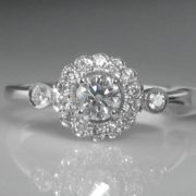 Diamond Ring in Vintage Style Setting