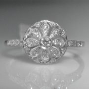 Vintage Style Diamond Cluster Ring