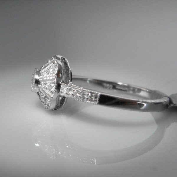 Engagement Rings Galway: SOLD – Vintage Style Diamond Cluster Ring