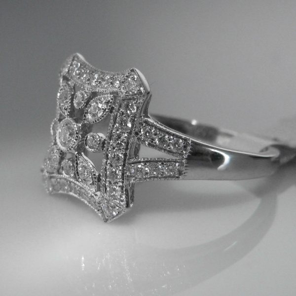 Engagement Rings Galway: SOLD – Diamond Ring In 18k White Gold