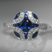 Sapphire and Diamond Ring, Diamond Ring, Jewellery, Galway, Ireland, The Antiques Room
