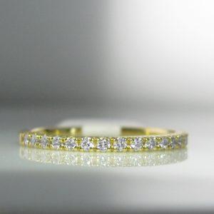 Irish Made Diamond Eternity Ring in 18k Gold