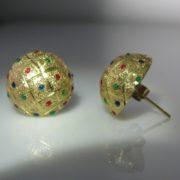 Vintage Multi-Gem Earrings