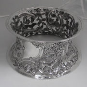 Antique Irish Silver Dish Ring