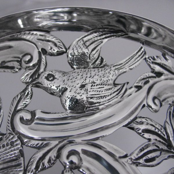 Sold Antique Irish Silver Dish Ring The Antiques Room