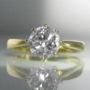 Certified 1ct Diamond Solitaire Ring in 18k Gold