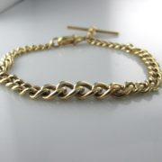 Gold T-Bar Bracelet