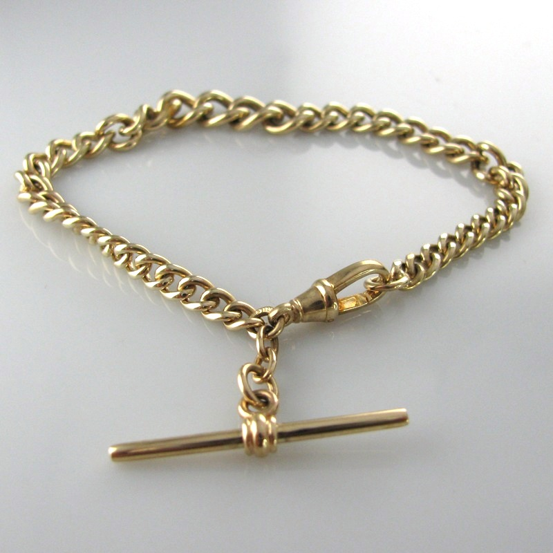 3721f62e7 Gold T-Bar Bracelet | The Antiques Room