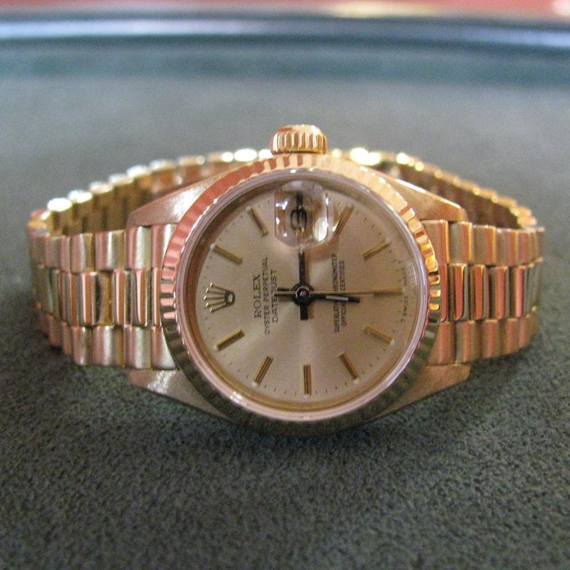 Ladies Rolex President DateJust in 18k Gold