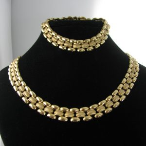 Gold Necklace and Bracelet Set
