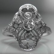 Platinum - Art Deco Diamond Ring
