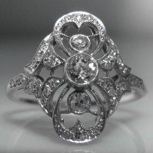 Platinum - Art Deco Diamond Ring