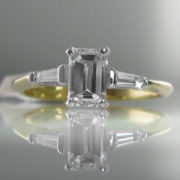 Emerald Cut Diamond Ring - 1.06 cts diamond - Certified