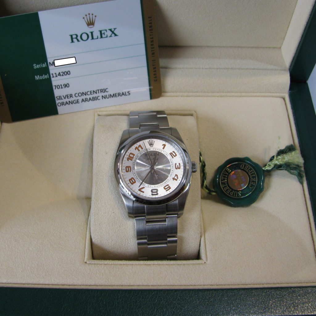 Sold Rolex Oyster Perpetual Air King Precision 2016